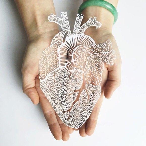 紙でこの再現力!実物大の臓器を模したペーパークラフト