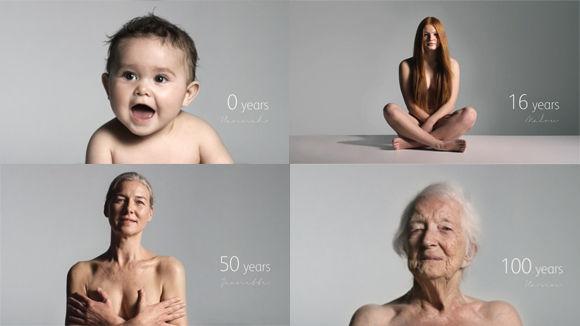 年齢を経た美しさがある。0歳から100歳まで、女性の100年を60秒で