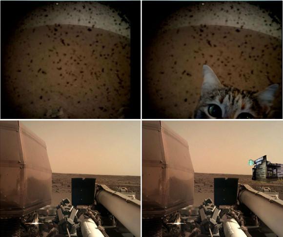 NASAの火星探査機インサイトの火星上陸に湧き上がるコラ職人たち