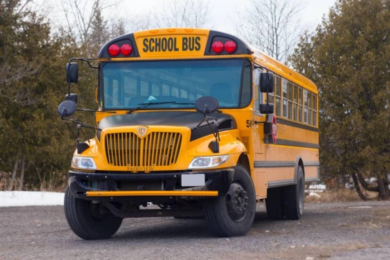 アメリカのスクールバスの車体に3本ラインが入っている理由