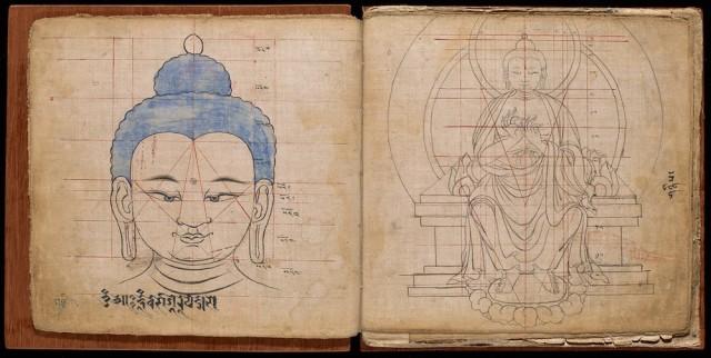 ブッダの描き方が分かるチベットのマニュアル本