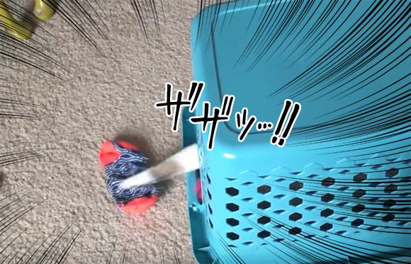 すべてもれなく回収します!猫式肉球回収システムを搭載した洗濯カゴ