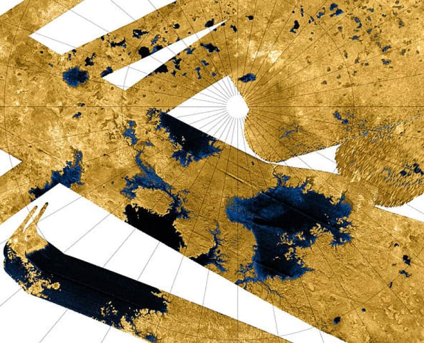 タイタン最大の海、クラーケン海