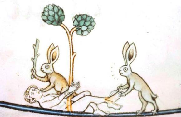 ウサギは悪の象徴だったのか?中世の写本に見られる殺人ウサギ
