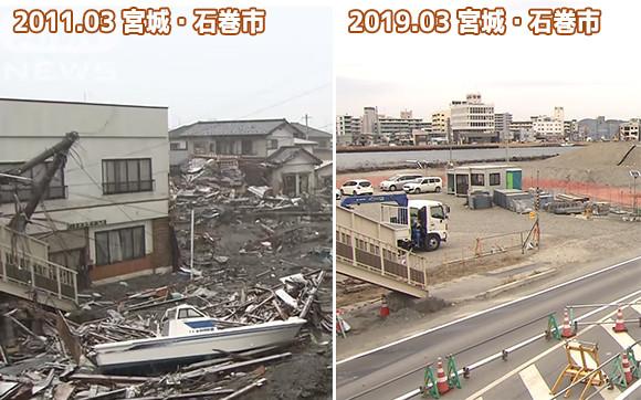 今年で8年。東北地方太平洋沖地震の被災地に設置した定点カメラがとらえた復興の軌跡