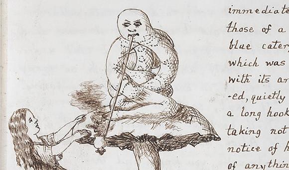 ルイスキャロル直筆のオリジナル原稿のイラスト絵
