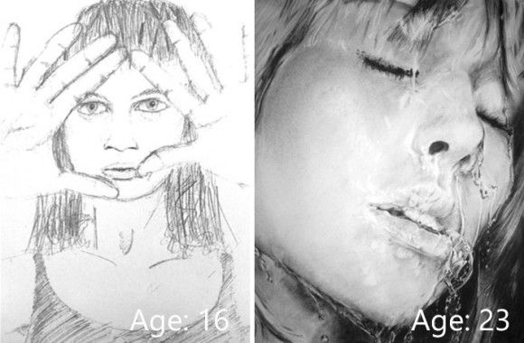 好きこそものの上手なれ。絵が好きで何年も描き続けた人の成果がわかるビフォア・アフター比較絵