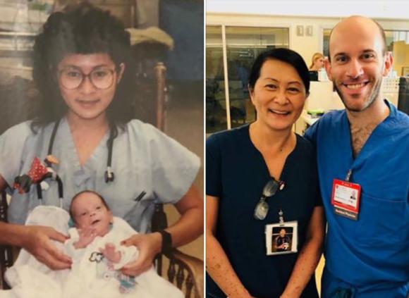 やっぱりあの子!看護師、28年前に担当した未熟児と奇跡の再会。彼は医師となってこの病院に戻ってきた(アメリカ)