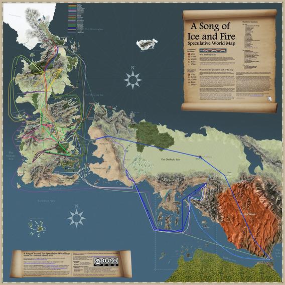 このテレビシリーズは、小説の始めについている重要な地図をシリーズのオープニングクレジットにして、ファンタジーのジャンルに敬意を表している。