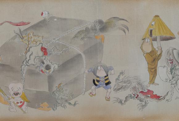ゲゲゲ妖怪が日本画にしっくり馴染んでる!いにしえの絵師と「ゲゲゲの鬼太郎」のコラボが秀逸