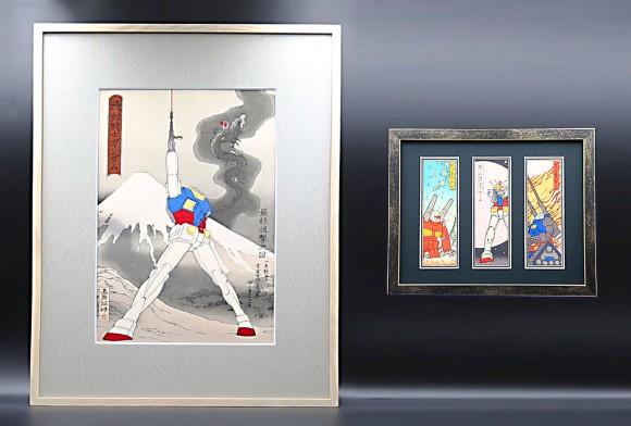 「機動戦士ガンダム」が浮世絵に!あの名シーンが浮世絵&千社札となった華麗なるコラボレーションが誕生