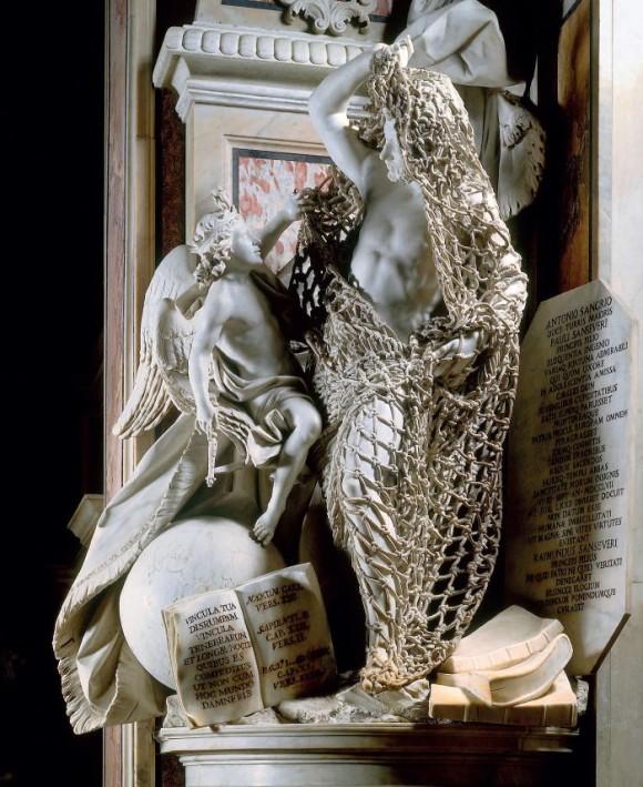 なんと網までも!!すべてが大理石でできたサン・セヴェーロ礼拝堂の彫刻がすごい!(イタリア)