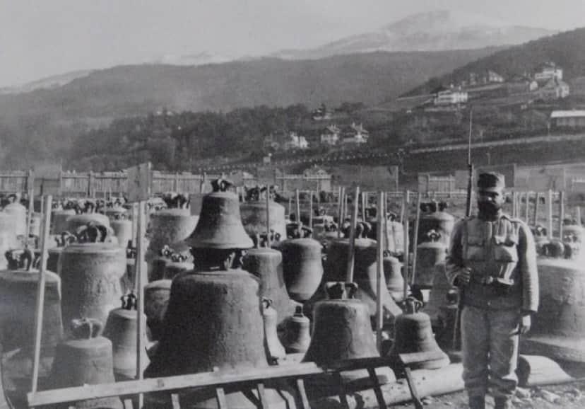 兵器を作る金属の材料として大戦中に集められた鐘