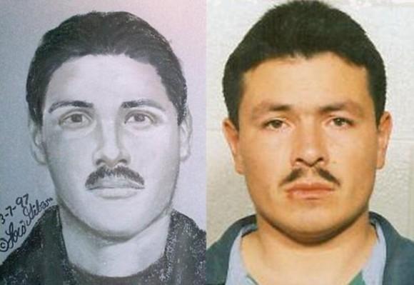マグショット・ファイナル!外国の指名手配犯の似顔絵と実物を比較してみた画像