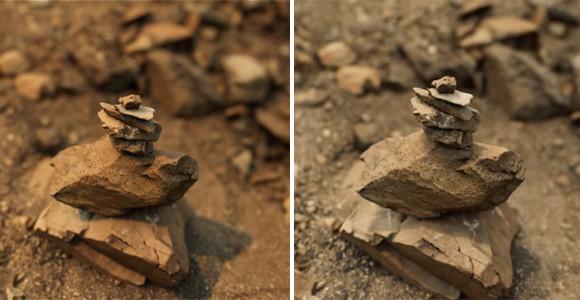 現実とバーチャルの境目が更にわかりにくくなった。リアルタイムレンダリングによる超リアルな岩石のCG映像