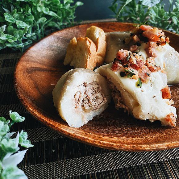 未味との遭遇。リトアニア伝統のモチッと食感ジャガイモ料理、ツェペリナイ作り方【ネトメシ】