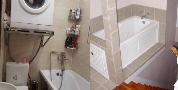 「階段上がるとすぐお風呂」、「トイレの真上に洗濯機」奇妙な家具家電レイアウトがSNSで物議をかもす