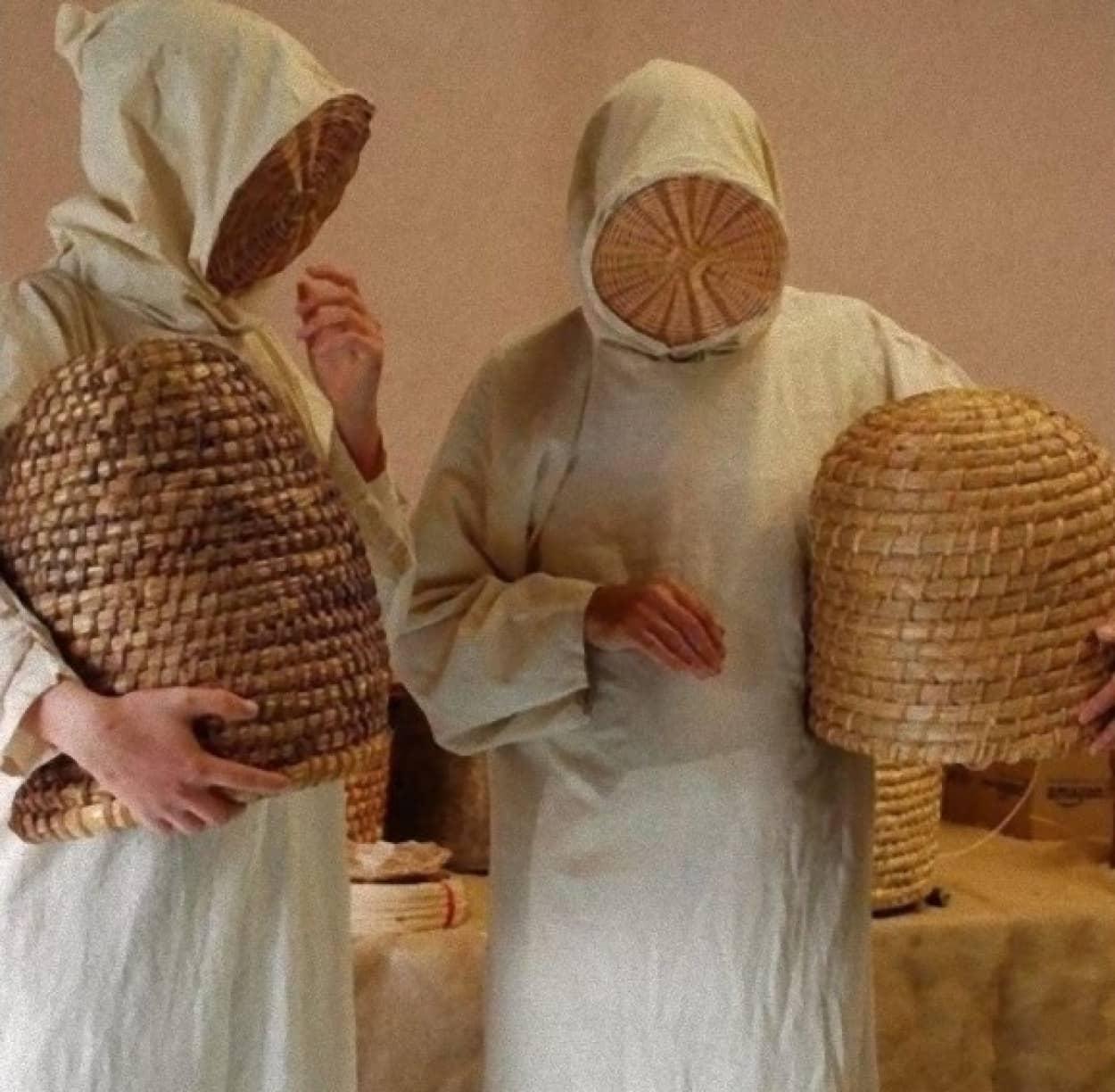 中世の養蜂家の防護服