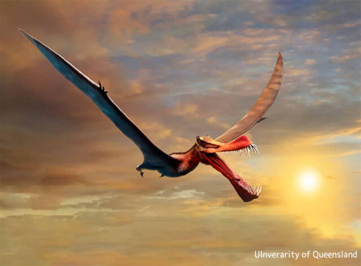 ドラゴンのような空を飛ぶ巨大な爬虫類の化石が発見される