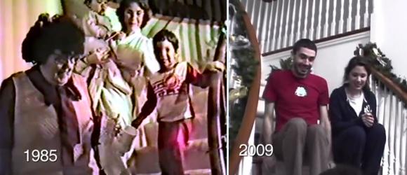 クリスマスの日の朝。父親が25年間、階段から降りてくる子どもたちの様子を撮影し続けたある家族の記録