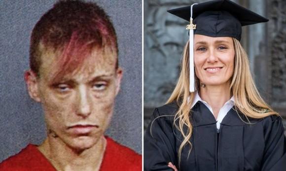 薬物依存症から立ち直った女性のビフォア・アフター