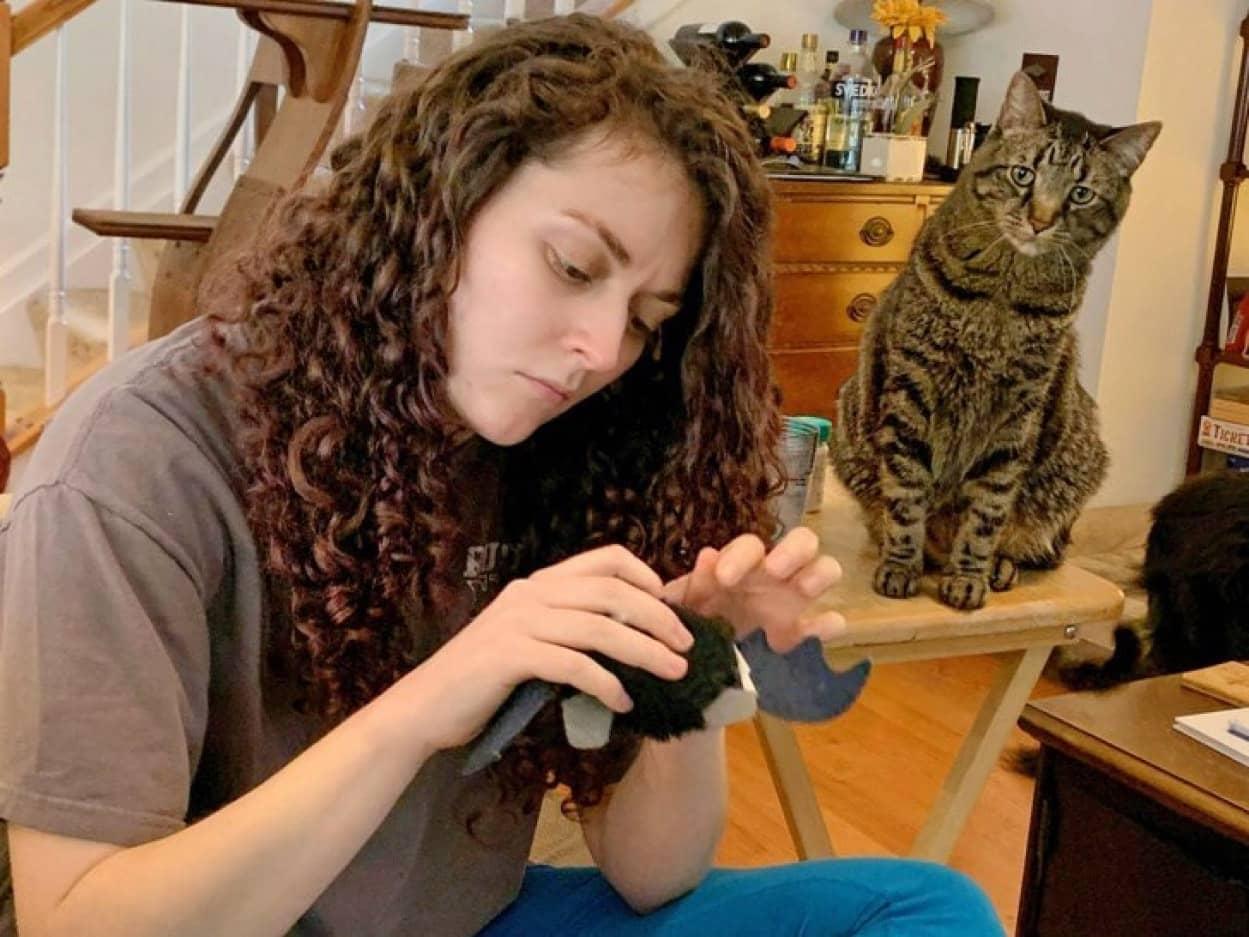 猫のおもちゃ修理