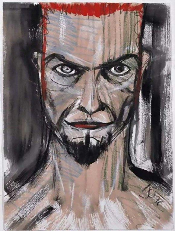 絵に描いたようなロックスターは絵の才能も突出していた。デヴィッドボウイが残した絵画