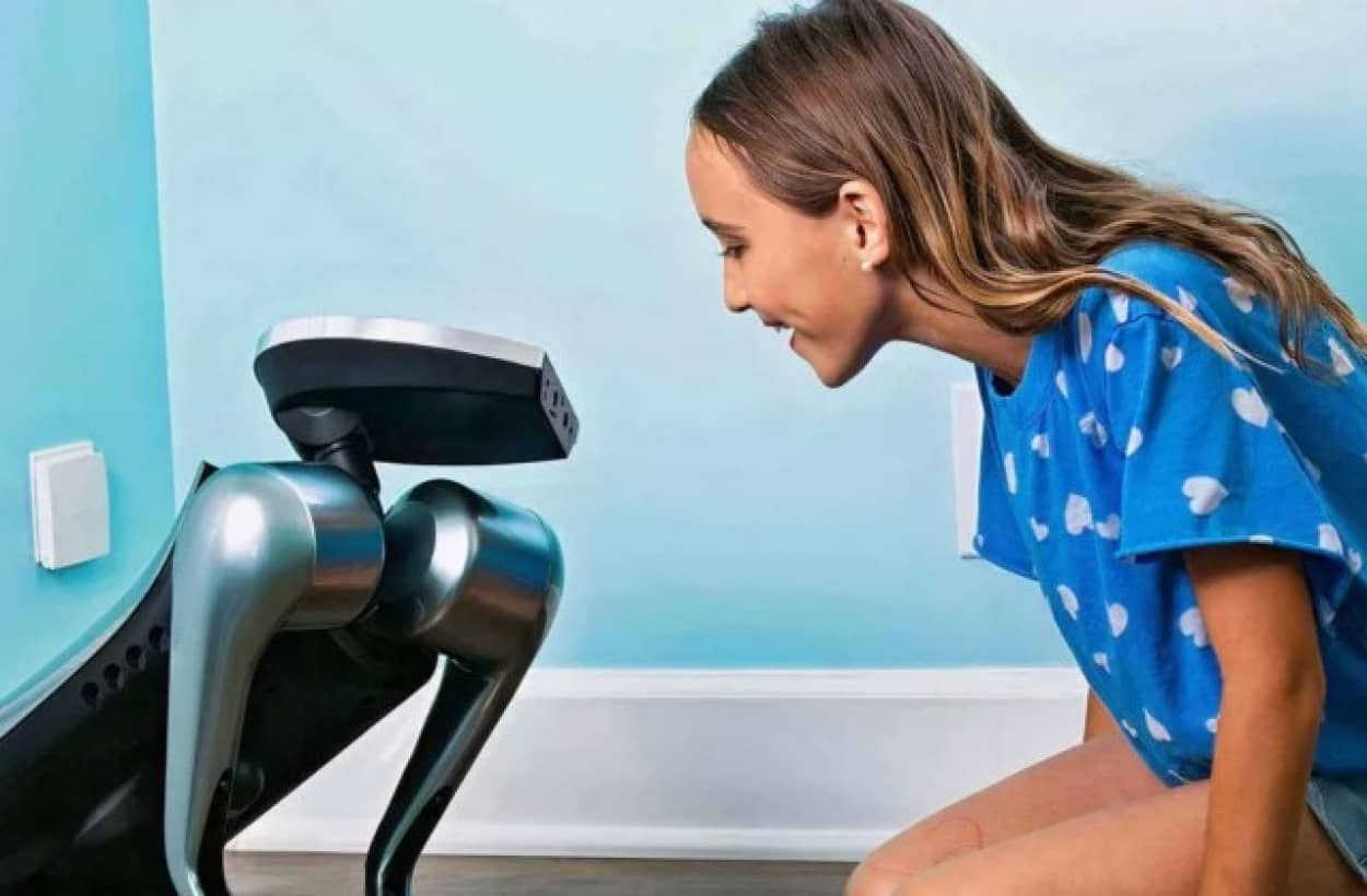 人間の感情を読み取り、学習して反応する犬型ロボット