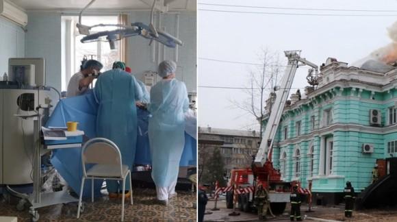 病院で火災発生!だが医師らは避難せずに患者の心臓手術をやり遂げる(ロシア)