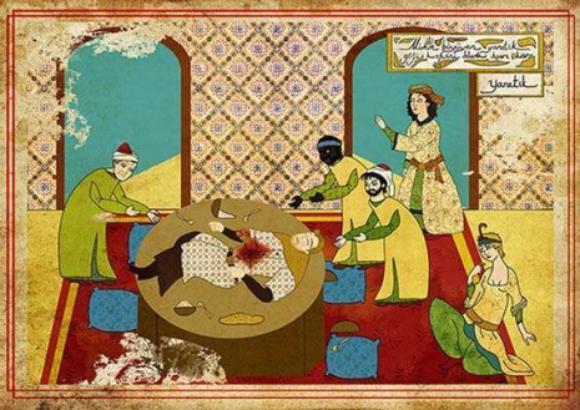 あの名作映画のあのシーンをオスマン帝国風絵画にしてみた。こうなった。