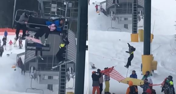 8歳の男の子がスキーリフトで宙ぶらりんに!10代の少年たちによる機転のきいた救出大作戦とは?(カナダ)