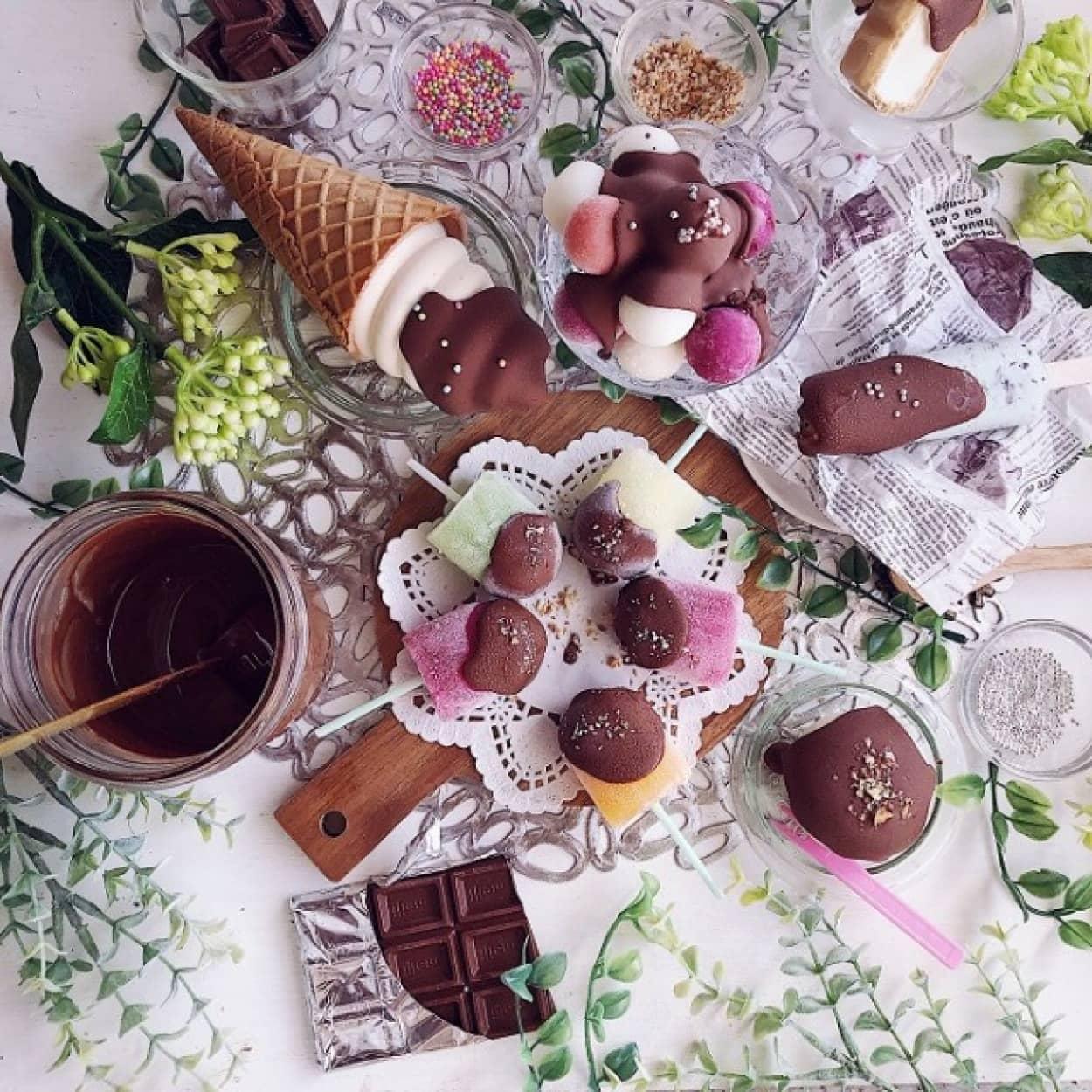 簡単便利、チョココーティングの作り方