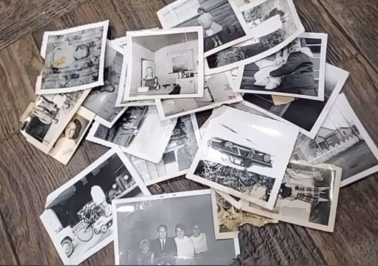 隠し部屋から発見された首無しの男性が写ったモノクロ写真