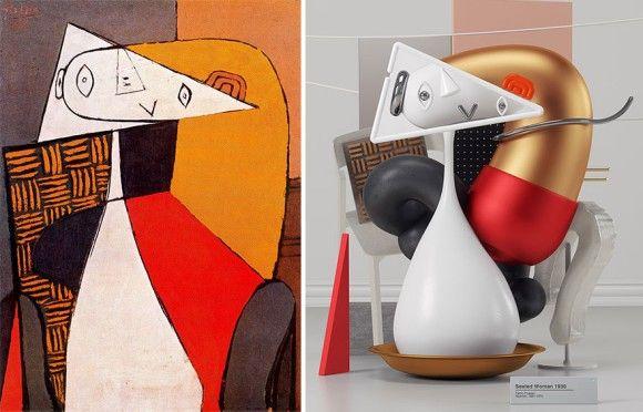ピカソの絵画を現代的解釈を加えて3D化したデジタルアート