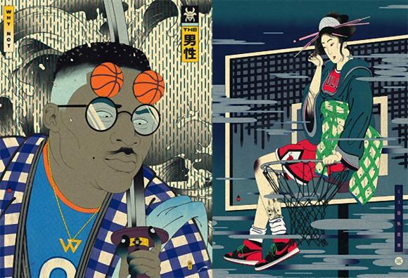 日本文化と浮世絵が好き、でもバスケットも好き。だもんだからこうなった。「江戸ボールシリーズ」が開幕じゃい