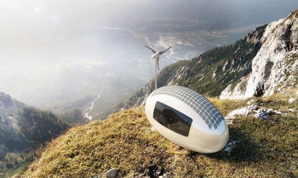 このカプセルがあれば、世界中どこででも暮らしていける。発電機能搭載型単身用移動カプセル住居