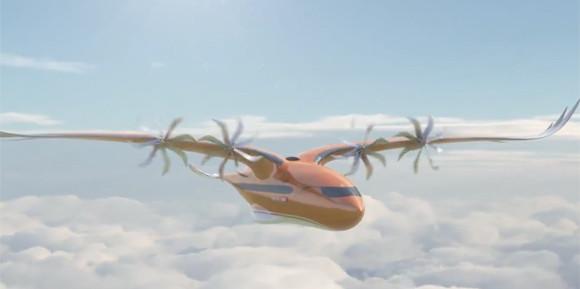 なんとなく鳥っぽい?猛禽類インスパイアな形状のハイブリッド電動飛行機のデザインが公開される(エアバス社)