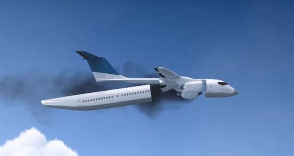 ロシアが開発中の飛行機事故から乗客を守る機体分離型旅客機が更なる進化を遂げた!