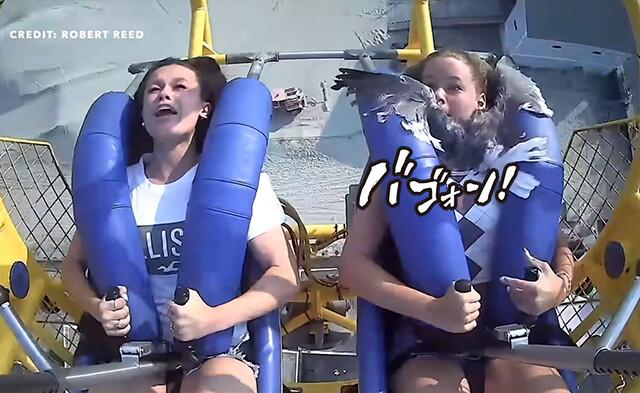 絶叫マシンに乗っていたらカモメが少女の顔面に襲来!別の意味で絶叫となった件