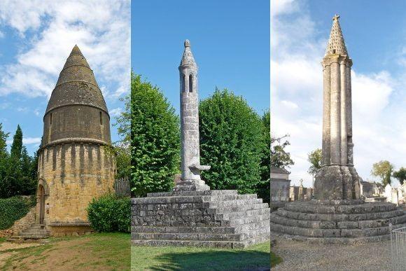 いにしえの道しるべ、「死者のランタン」と呼ばれる小さな塔(フランス)