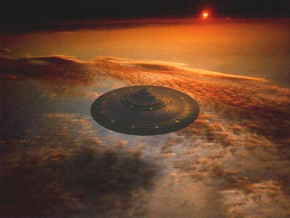 UFO_at_Sunset