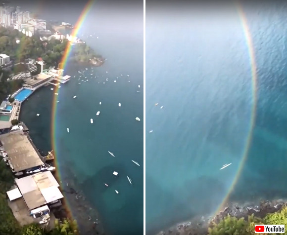 ダブルな円形の虹が幸運度を上げてくれそうなのであやかろう(ブラジル)