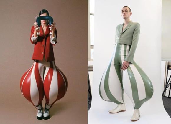 アニメで見たことあるやつ!ファッション業界の多様性、空気注入型の風船パンツが登場