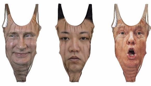 胴体顔面のど迫力。ホットすぎるプーチンやトランプの顔面がプリントされた大胆デザインの水着がナウオンセール!
