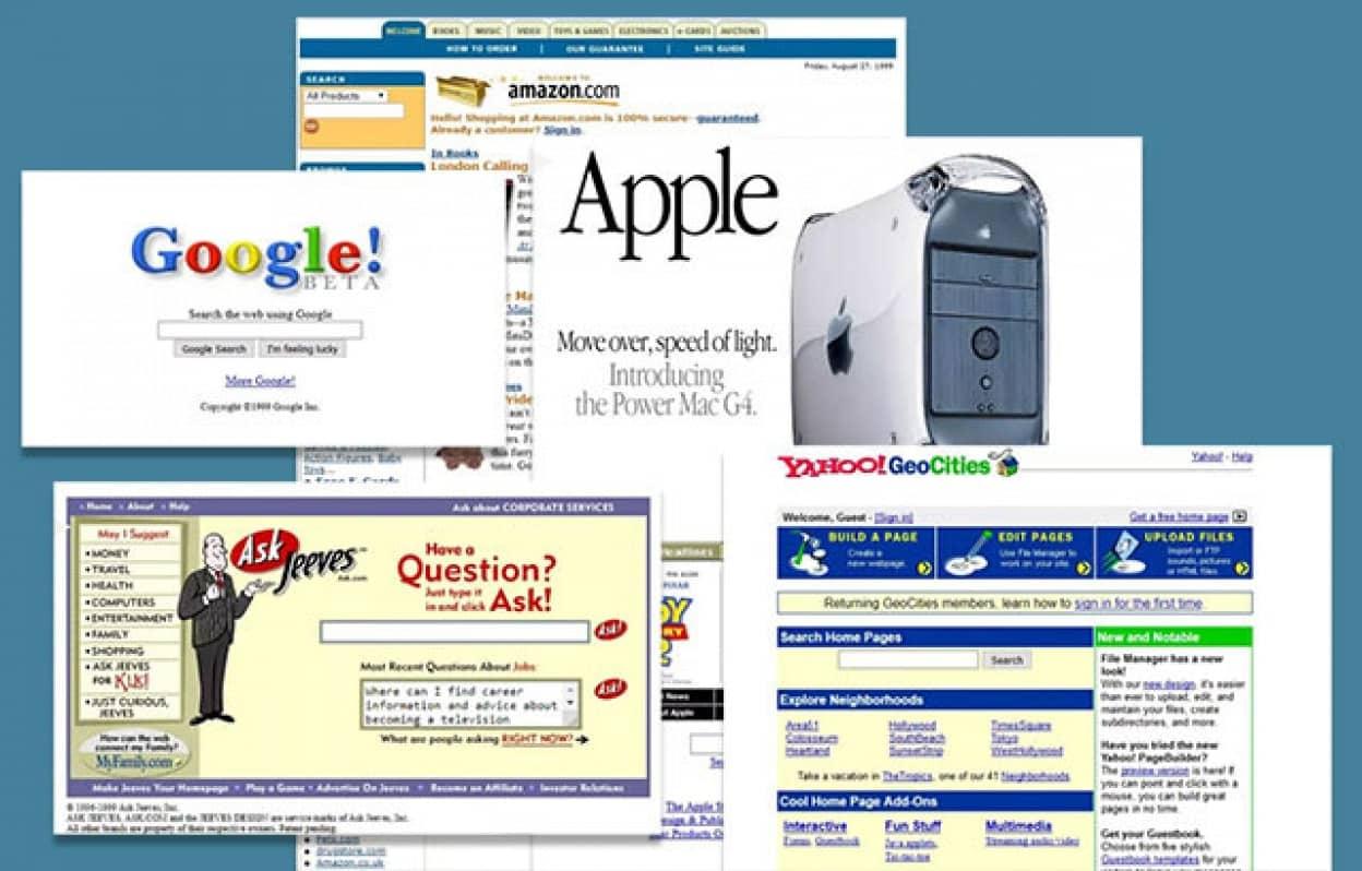 1999年のウェブサイトデザイン