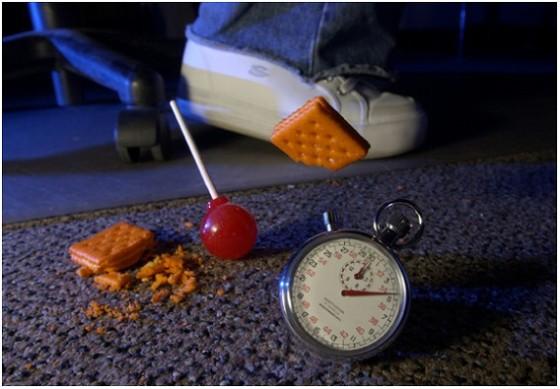 食べ物を落とした時の3秒ルール...