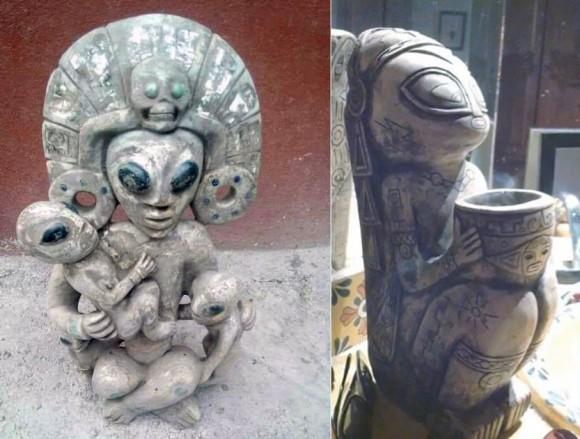 異星人とのコンタクトの証明か?メキシコの洞窟内で宇宙人やUFOと思わしき彫刻が刻まれた石が発見される