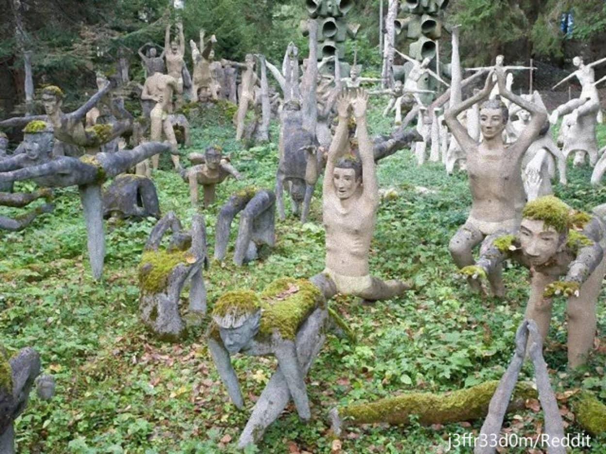 フィンランド、ヴェイオ・ロンコネン彫刻庭園の彫像