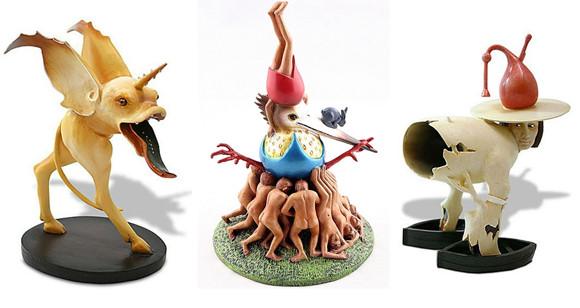 絵画「快楽の園」のシュールなキャラクターたちがフィギュアになった。ネット通販で販売中!