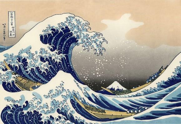 北斎の浮世絵「神奈川沖浪裏」に出てくるような大波の再現に成功(英・豪共同研究)